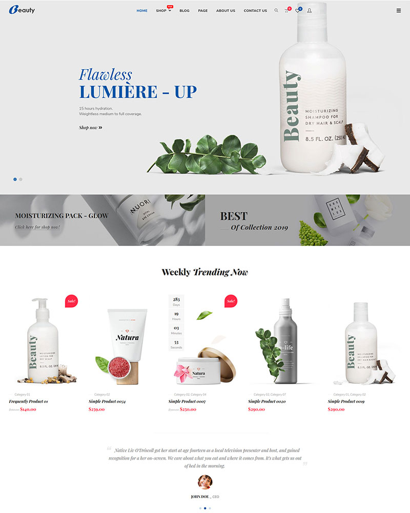 Beauty - Free WooCommerce Beauty & Cosmetics Theme
