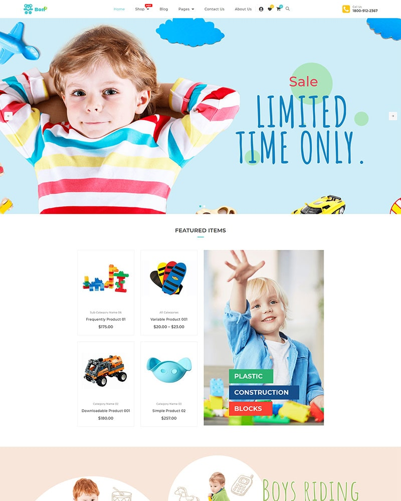 Bonbon - Free Baby Shop & Kids Store WooCommerce Theme
