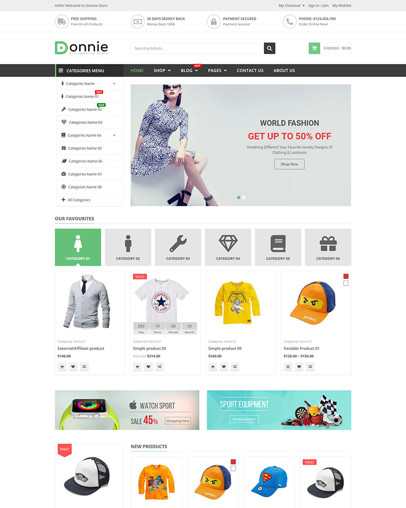 Donnie - Free Multipurpose WooCommerce WordPress Theme