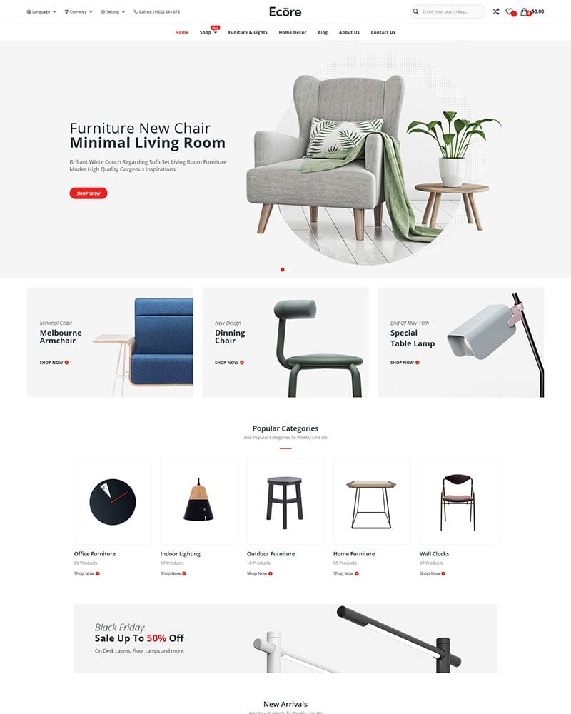 Ecore - Free Furniture WooCommerce Theme
