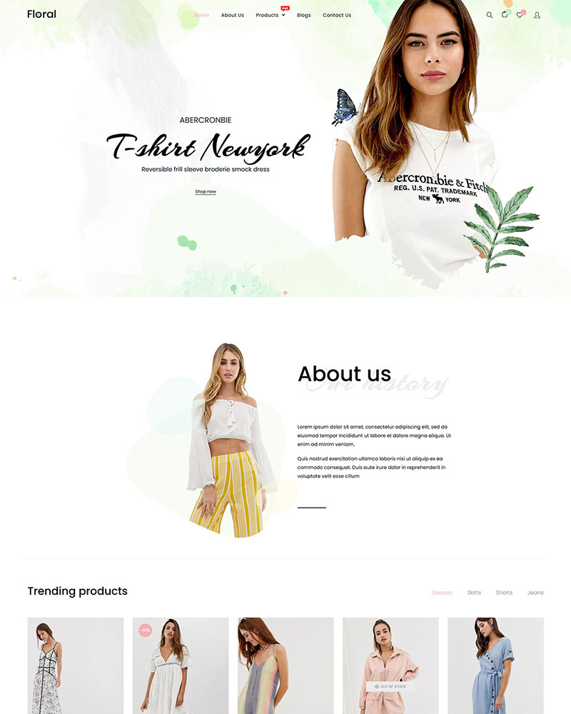 Floral - Free Fashion WooCommerce WordPress Theme