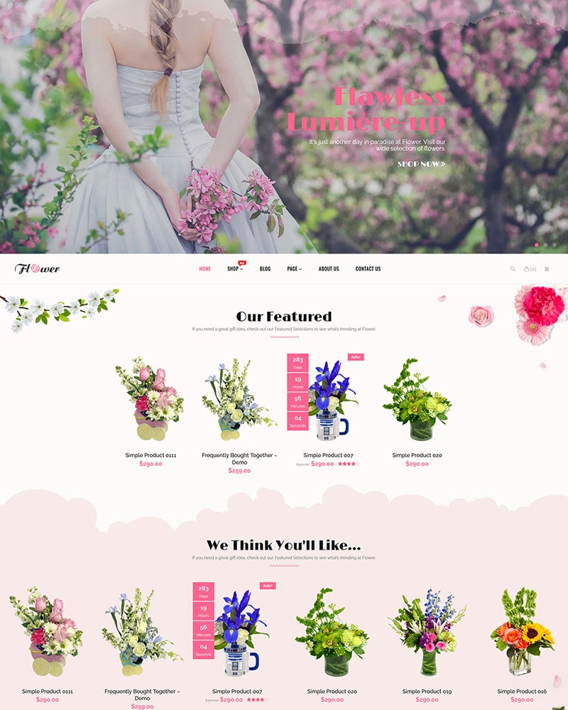 Flower - Free WooCommerce WordPress Theme for Flower Shop