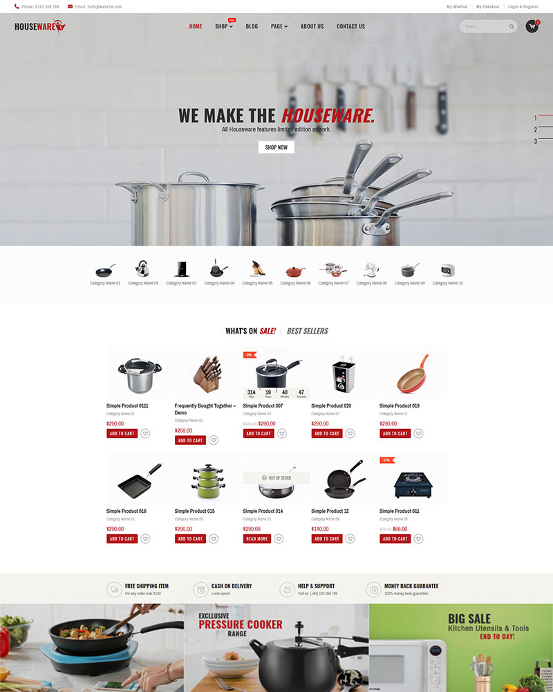 Houseware - Free Responsive WooCommerce WordPress Theme