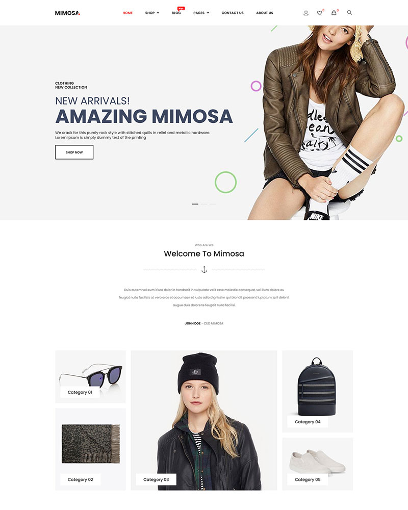 Mimosa - Free Modern Fashion WooCommerce WordPress Theme